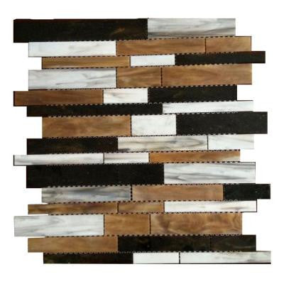 Matchstix Mockingbird 10 in. x 11 in. x 8 mm Glass Mosaic Floor and Wall Tile