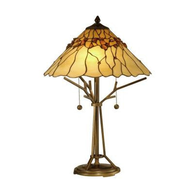 23 in. Branch Base Art Glass Table Lamp