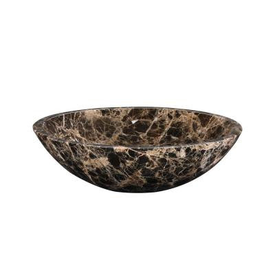 Stone Vessel Sink in Dark Emperador