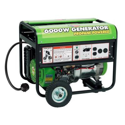 6,000-Watt Electric Start Propane Generator with Mobility Kit