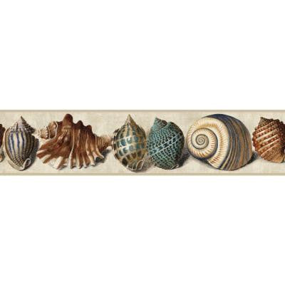 6 in. Nautical Living Shell Border