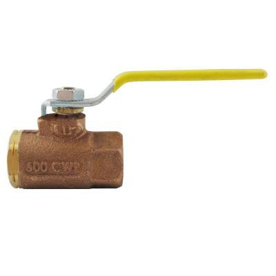 1 in. Bronze FPT x FPT Industrial Ball Valve NPT Standard Port