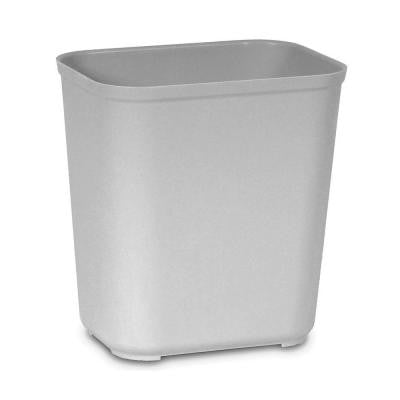 7 Gal. Grey Rectangular Fire-Resistant Trash Can