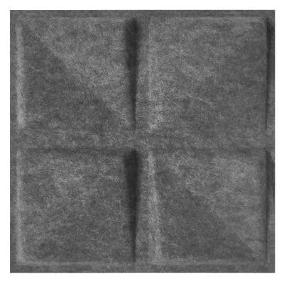 FeltForms 24 in. W x 24 in. L x 2 in. H Grey Acoustic Insulation Quad Panels (4-Pack)