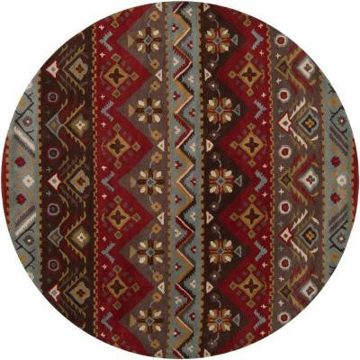 Dillon Rust 8 ft. x 8 ft. Round Area Rug
