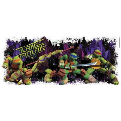 5 in. x 19.5 in. Teenage Mutant Ninja Turtle Trouble Graphix Peel and Stick Wall Decals
