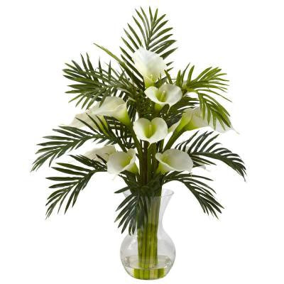 Calla Lily and Palm Combo in Cream