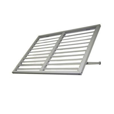 Awntech's 3 ft. Bahama Metal Shutter Awnings (44 in. W x 24 in. H x 36 in. D) in Dove Gray