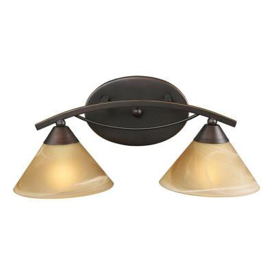 Elysburg 2-Light Aged Bronze Wall Mount Vanity Light