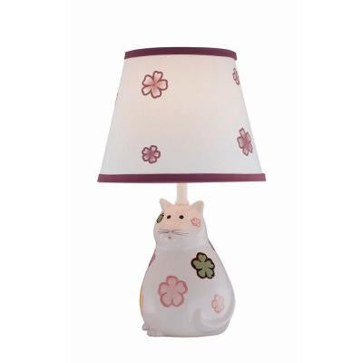 Designer Collection 17 in. Ceramic Table Lamp with White Fabric Shade