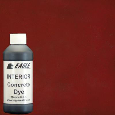 1-gal. Rhubarb Interior Concrete Dye Stain Makes with Water from 8 oz. Concentrate