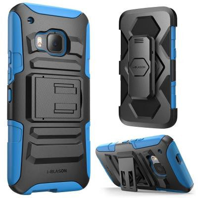 Prime Dual Layer Holster Case for HTC One M9 - Blue
