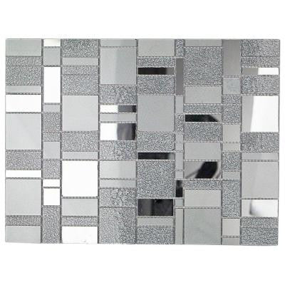 Specchio Platinum 10.62 in. x 14.12 in. x 4 mm Polished Glass Mirror Mosaic Tile
