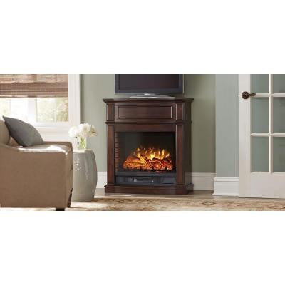 Niya 32 in. IR Electric Fireplace in Dark Cherry