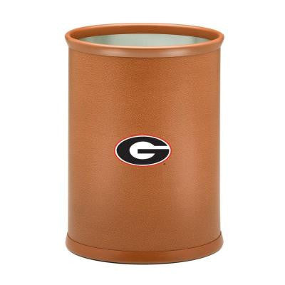 13 in. Georgia Basketball Texture Oval Trash Can
