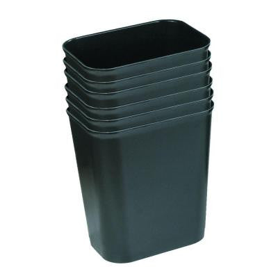 3.5 Gal. Black Fire-Resistant Trash Can (Case of 6)