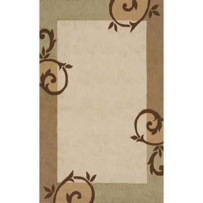 Terrace Iron Gate Cream 5 ft. x 8 ft. All-Weather Patio Area Rug