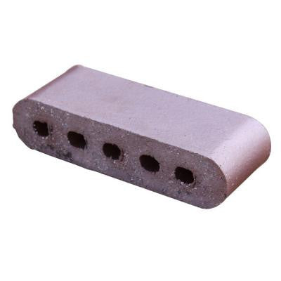 Double Bullnose Medium Iron Spot 9 in. x 3.5 in. x 2.19 in. Cored Clay Brick