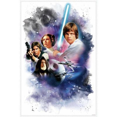 2.5 in. W x 27 in. H Star Wars Classic Mega 1-Piece Peel and Stick Giant Wall Decal