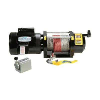 AC2000 115-Volt AC Industrial Winch with Free-Spooling Clutch and Drum Switch