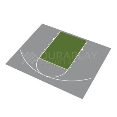 30 ft. 9 in. x 25 ft. 8 in. Half Court Basketball Kit