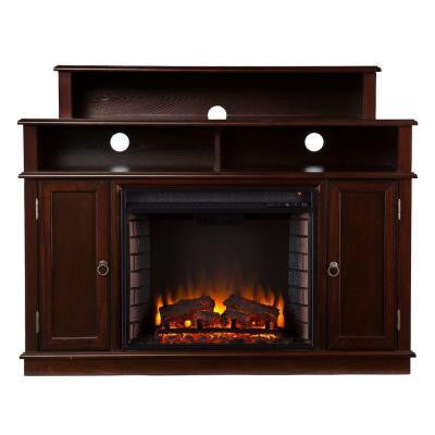 Addison 47.75 in. Freestanding Media Electric Fireplace in Espresso