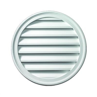 12 in. x 12 in. x 1 5/8 in. Polyurethane Decorative Round Louver