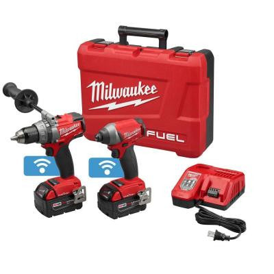 M18 FUEL with ONE KEY 18-Volt Lithium-Ion Brushless Cordless Hammer Drill/Impact Driver Combo Kit