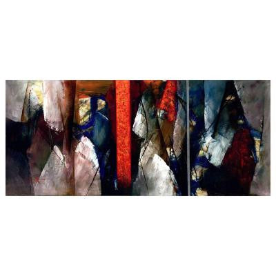 14 in. x 32 in. Abstract VI Canvas Art
