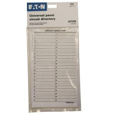 Load Center Circuit Directory (2-Pack)