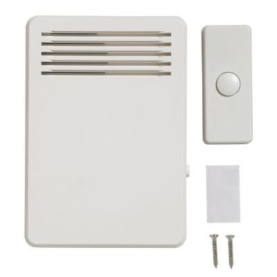 Wireless Plug-In Doorbell Kit, 75 dB with 1 Push Button - White