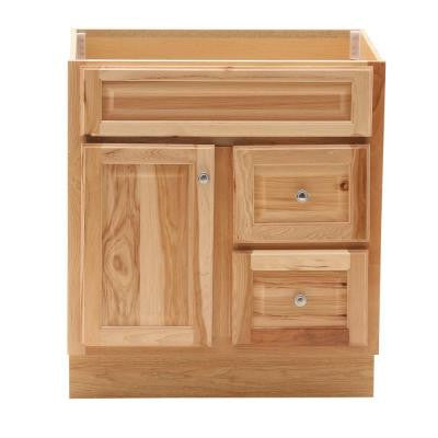 Hampton 30 in. W x 21 in. D x 33.5 in. H Vanity Cabinet Only in Natural Hickory