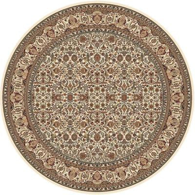 Super Kashan Ivory 7 ft. 10 in. Round Area Rug