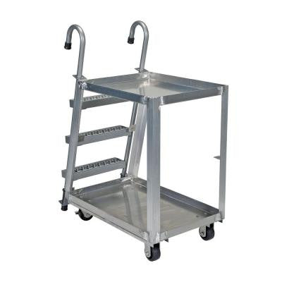 660 lb. 22 in. x 36 in. 2 Shelf Aluminum Stock Picker Truck