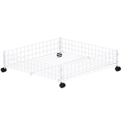 Rolling 6.38 in. H x 24.00 in. W x 23.75 in. L Under Bed Cart