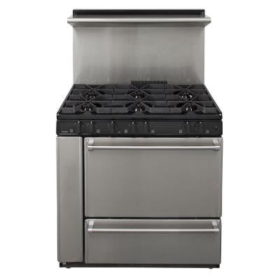 ProSeries 36 in. 3.97 cu. ft. Gas Range in Stainless Steel