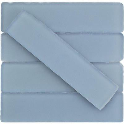 Ocean Cloud Beached Frosted Glass Mosaic Tile - 2 in. x 8 in. Tile Sample