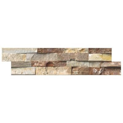 Golden White Ledger Panel 6 in. x 24 in. Natural Quartzite Wall Tile (10 cases / 40 sq. ft. / pallet)
