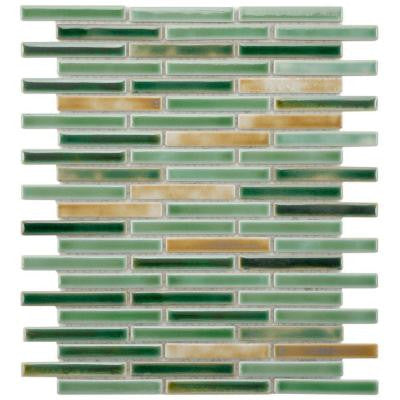 Rustica Brick Springfield 12-3/4 in. x 10-3/4 in. x 6 mm Porcelain Mosaic Floor and Wall Tile