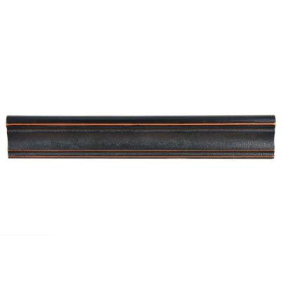 Contempo Onda Venetian Bronze Moldura 2 in. x 12 in. Metallic Wall Trim Tile