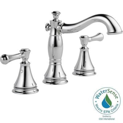 Cassidy 8 in. Widespread 2-Handle High-Arc Bathroom Faucet in Chrome