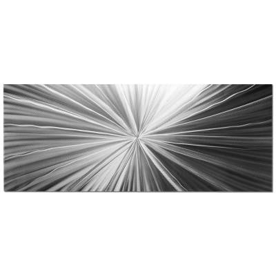 Brevium 19 in. x 48 in. Tantalum Composition Metal Wall Art