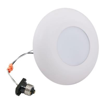 4 in./5 in./6 in. White Recessed LED Surface Disk Light 3000K