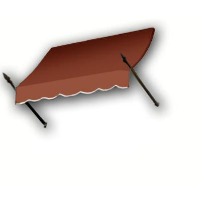 6 ft. New Orleans Awning (44 in. H x 24 in. D) in Terra Cotta