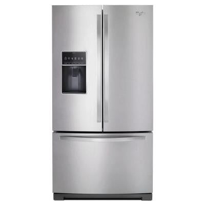 27 cu. ft. French Door Refrigerator in Monochromatic Stainless Steel