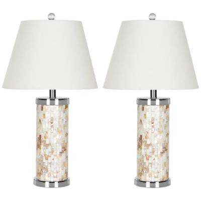 Diana 21.5 in. Shell Table Lamp (Set of 2)
