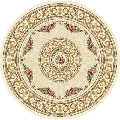 Winifred Ivory 5 ft. 3 in. x 5 ft. 3 in. Round Indoor Area Rug