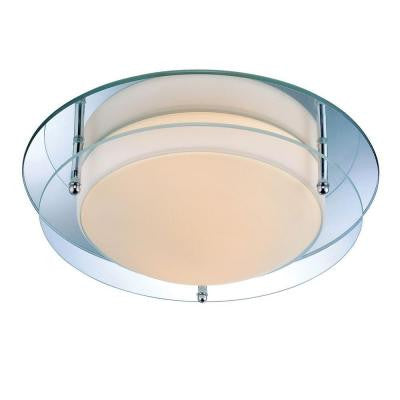 Designer Collection 2-Light Steel Semi Flush Mount