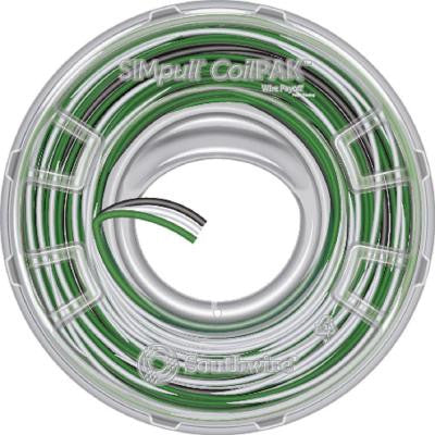 CoilPAK 350 ft. 12 Solid 3/C CU SIMpull THHN Wire - Black/White/Green