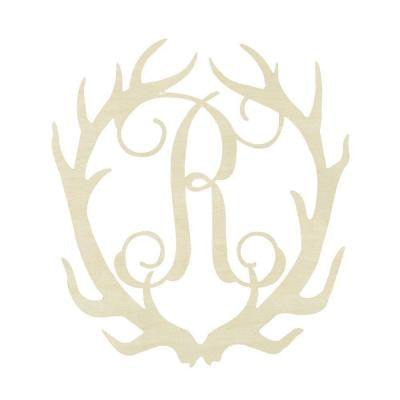 19.5 in. Unfinished Antler Monogram